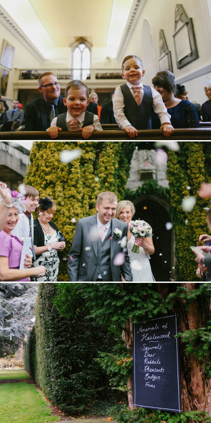 Vintage Inspired Wedding At Hazlewood Castle In Yorkshire With Bride In Foxglove By Jenny Packham And Bridesmaids In Pink Dresses From Coast With A Firework Display 5