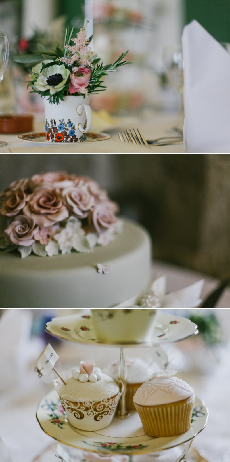 Vintage Inspired Wedding At Hazlewood Castle In Yorkshire With Bride In Foxglove By Jenny Packham And Bridesmaids In Pink Dresses From Coast With A Firework Display 8