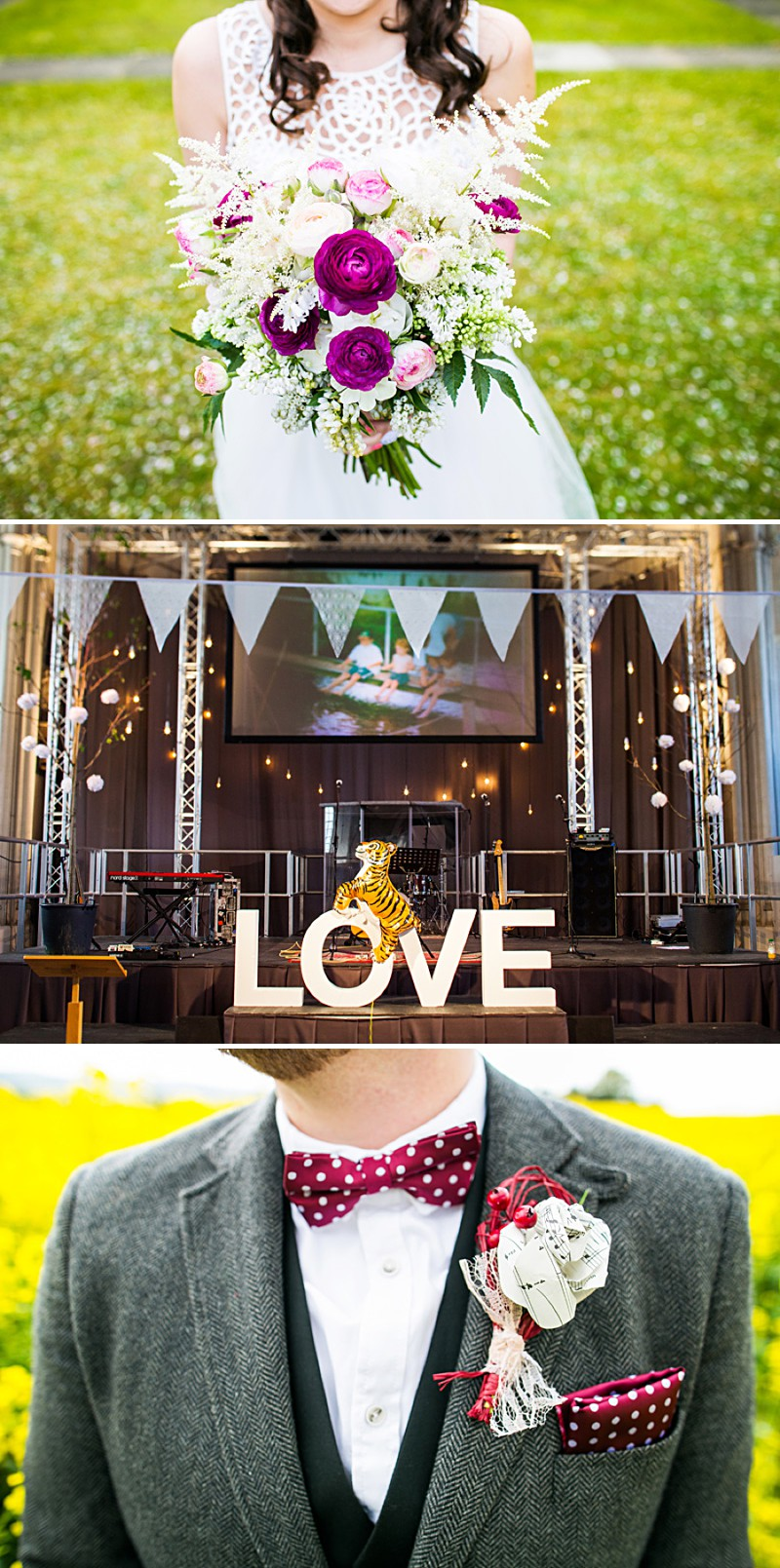 A Bohemian bride with tweed suited groom. A Brighton ceremony and ...