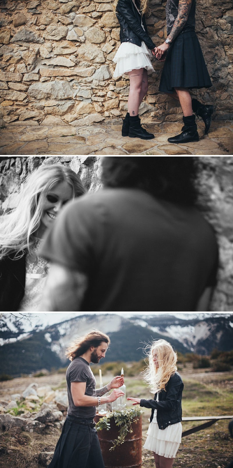 A French wedding alternative inspiration shoot in the mountains with a kilt_0188
