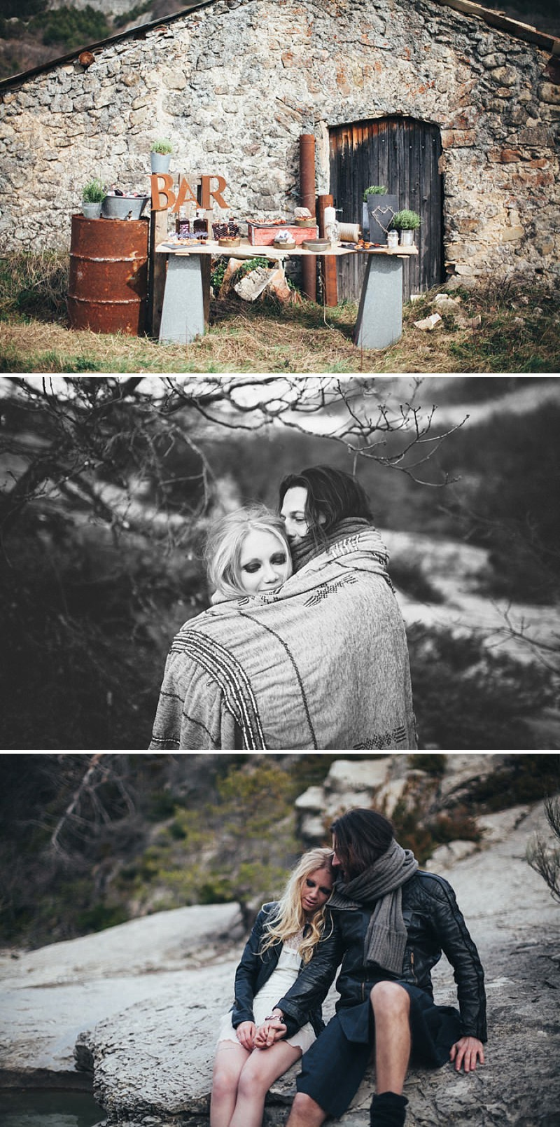 A French wedding alternative inspiration shoot in the mountains with a kilt_0189