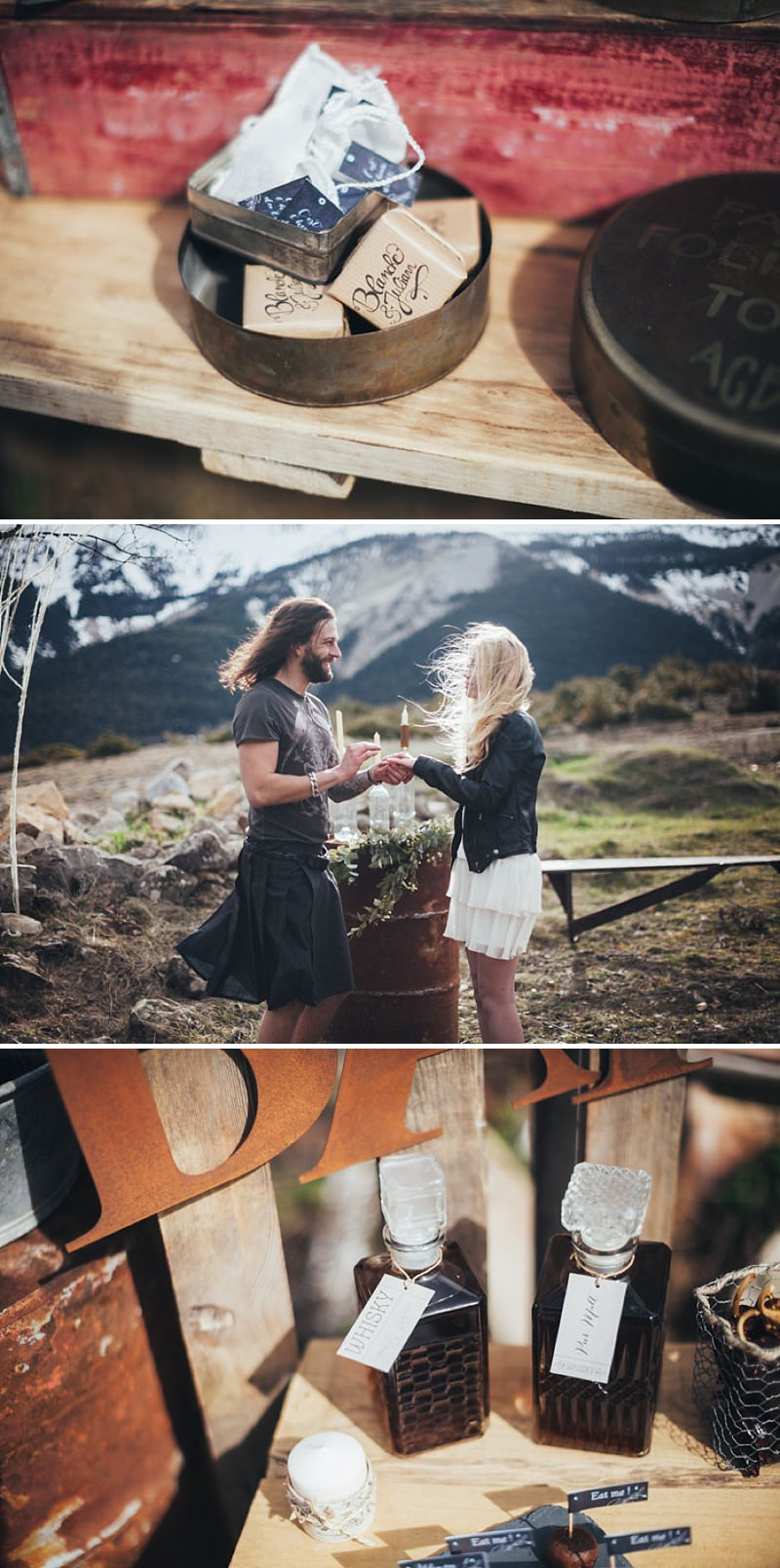 A French wedding alternative inspiration shoot in the mountains with a kilt_0190