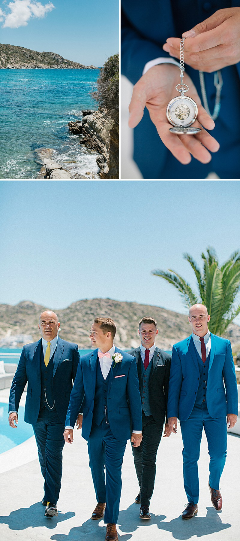 A Greek Destination Wedding On Tzamaria Beach In iOS With A Enzoani Dress And Peach Bridesmaid Dresses With Photography By Anna Roussos._0002