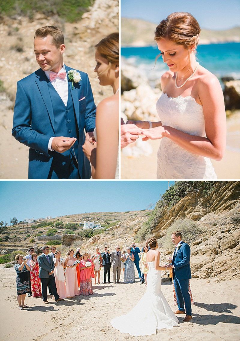 A Greek Destination Wedding On Tzamaria Beach In iOS With A Enzoani Dress And Peach Bridesmaid Dresses With Photography By Anna Roussos._0005