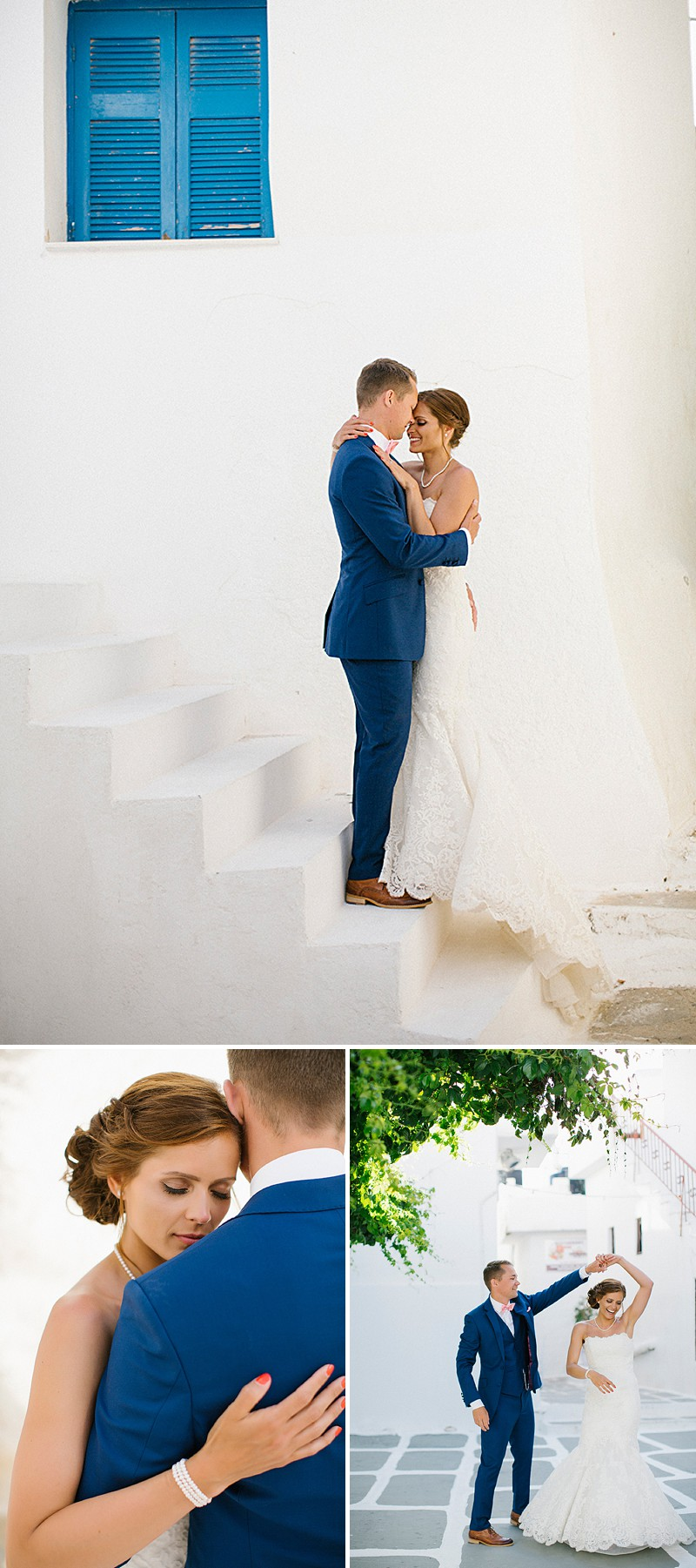 A Greek Destination Wedding On Tzamaria Beach In iOS With A Enzoani Dress And Peach Bridesmaid Dresses With Photography By Anna Roussos._0007