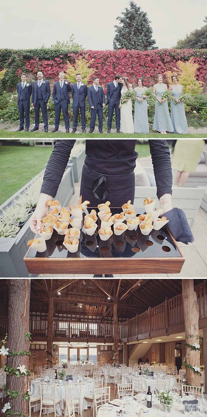 A Rustic Wedding At Gaynes Park With A Jenny Packham 'Eden' Dress And Dusky Blue Bridesmaids Dresses With Foliage Bouquets By Philippa James Photography._0004