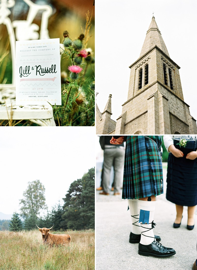 A Scottish Highlands Wedding At Coos Cathedral With A Raimon Bundo Weddding Dress And A Craspedia And Succulent Bouquet Photographed By Ann Kathrin Koch._0001