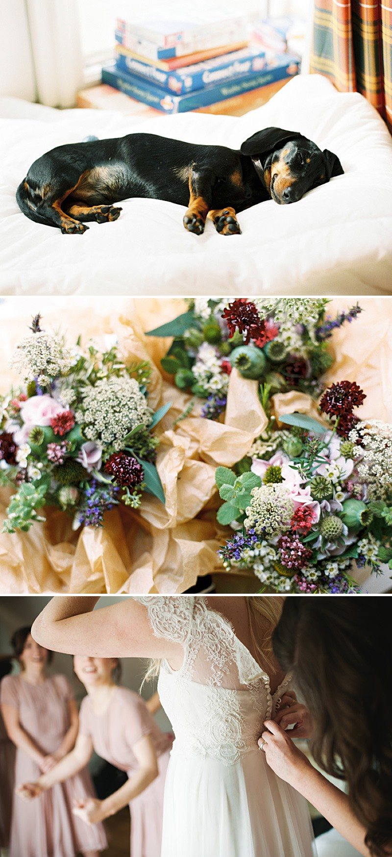 A Scottish Highlands Wedding At Coos Cathedral With A Raimon Bundo Weddding Dress And A Craspedia And Succulent Bouquet Photographed By Ann Kathrin Koch._0002