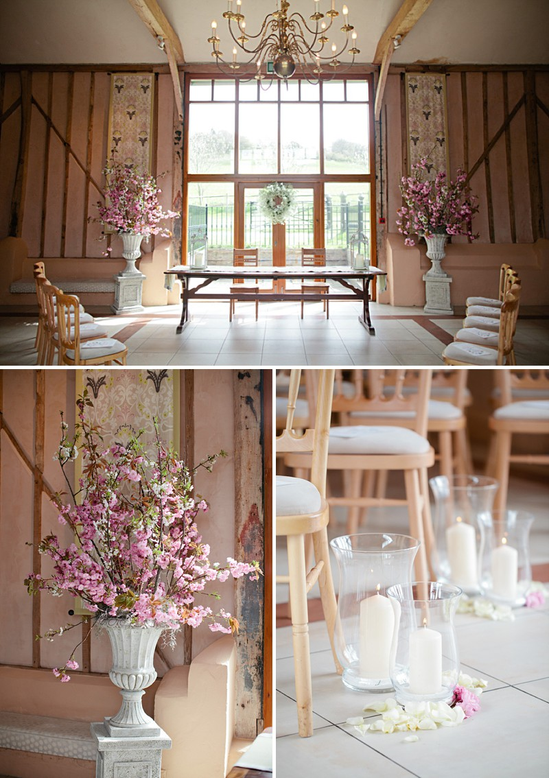 A contemporary with rustic details, gown by BHLDN and bridesmaids in anthropologie, wild flowers, a rural setting at Upwaltham Barnsand Photography by Helen Cawte_0002