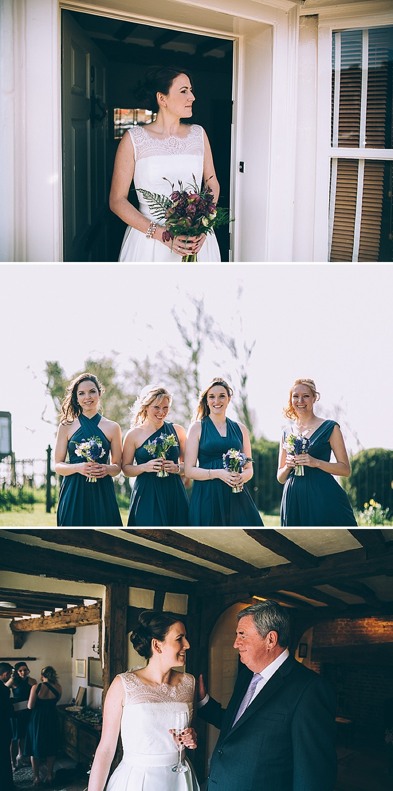 A wedding at Alpheton Hall Barns in Suffolk with a Jesus Peiro ballgown dress navy bridesmaids and DIY_0153