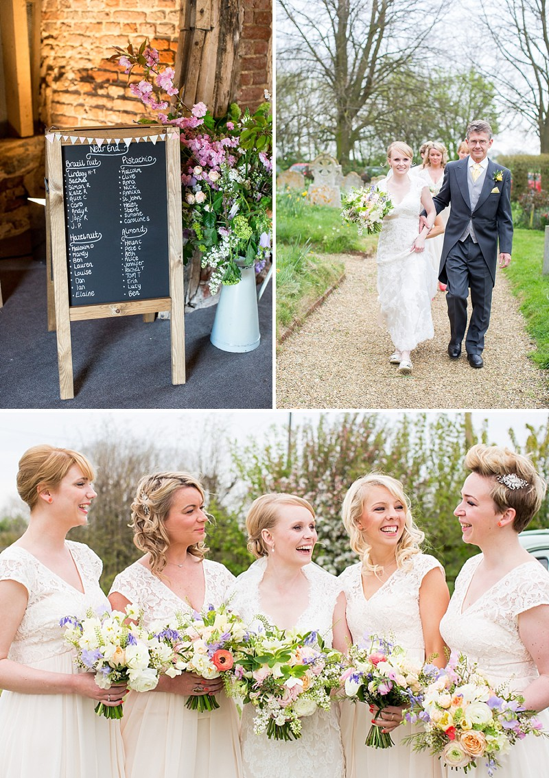 A rustic and whimsical wedding in suffolk with a petite bride in a wedding at crows hall with maggie sottero bronwyn lace dress bridesmaids in peach and rustic ombrellifo Image collections