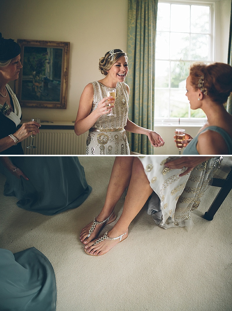 Art Deco and 1920s Inspired Wedding At The Matara Centre Gloucestershire With Bride In Joy By Jenny Packham and Bridesmaids in No 1 by Jenny Packham At Debenhams With Vintage Details and Speakeasy Themed Cocktails 3