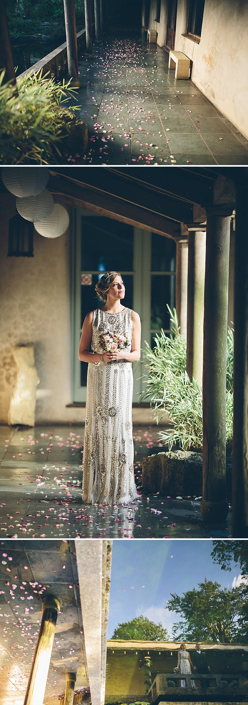 Art Deco and 1920s Inspired Wedding At The Matara Centre Gloucestershire With Bride In Joy By Jenny Packham and Bridesmaids in No 1 by Jenny Packham At Debenhams With Vintage Details and Speakeasy Themed Cocktails 9
