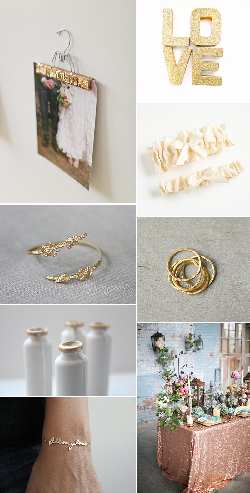 A Beautiful Selection Of The Best Metallic And Golden Wedding Products On Etsy._0001