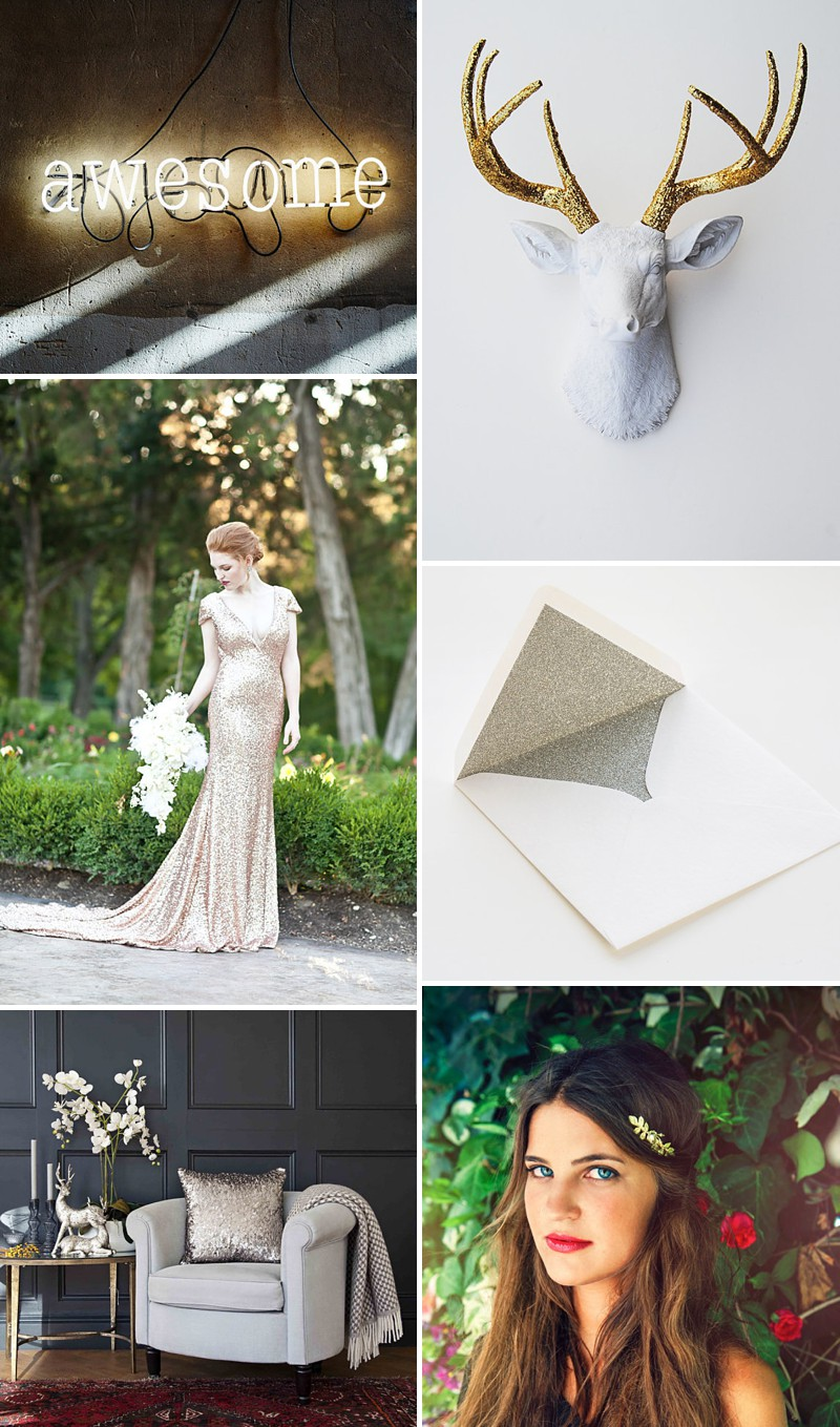 A Beautiful Selection Of The Best Metallic And Golden Wedding Products On Etsy._0002