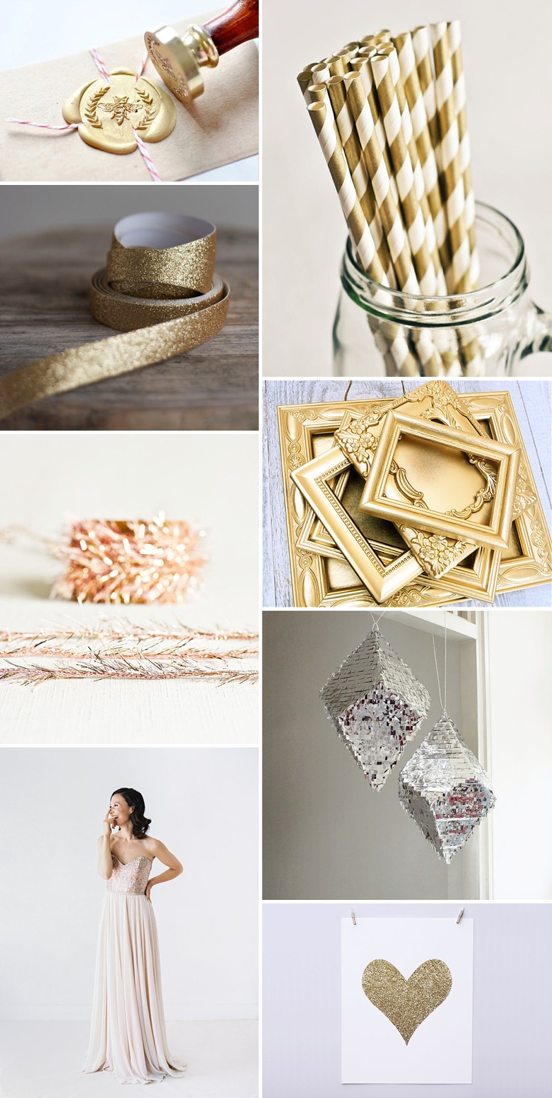 A Beautiful Selection Of The Best Metallic And Golden Wedding Products On Etsy._0003