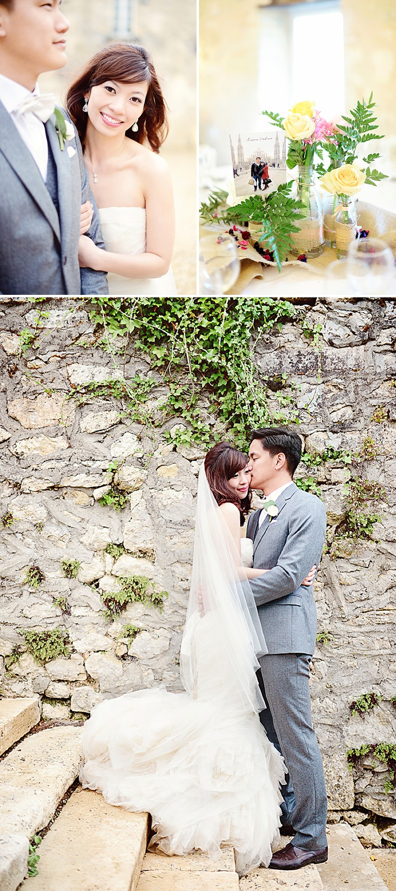 A Destination French Wedding At Chateau Lagorce In Bordeaux With A Vera Wang 'Gemma' Wedding Dress And A Peach And Coral Colour Theme With Photography By Emm and Clau._0008