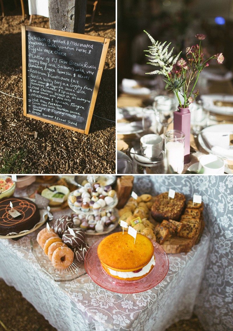 A rustic barn wedding at Townfield barn Derbyshire with a barn dance and a dessert table_0222