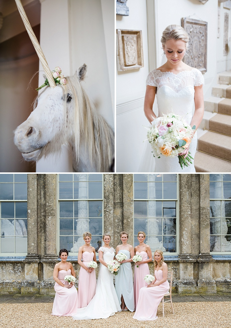 Elegant Wedding At Aynhoe Park With A Pastel Colour Scheme And Bride In A Lace Cap Sleeved Augusta Jones Dress For The Ceremony And A Sequinned Jenny Packham Gown For The Reception And Bridesmaids In Pink Dresses From Ted Baker 1