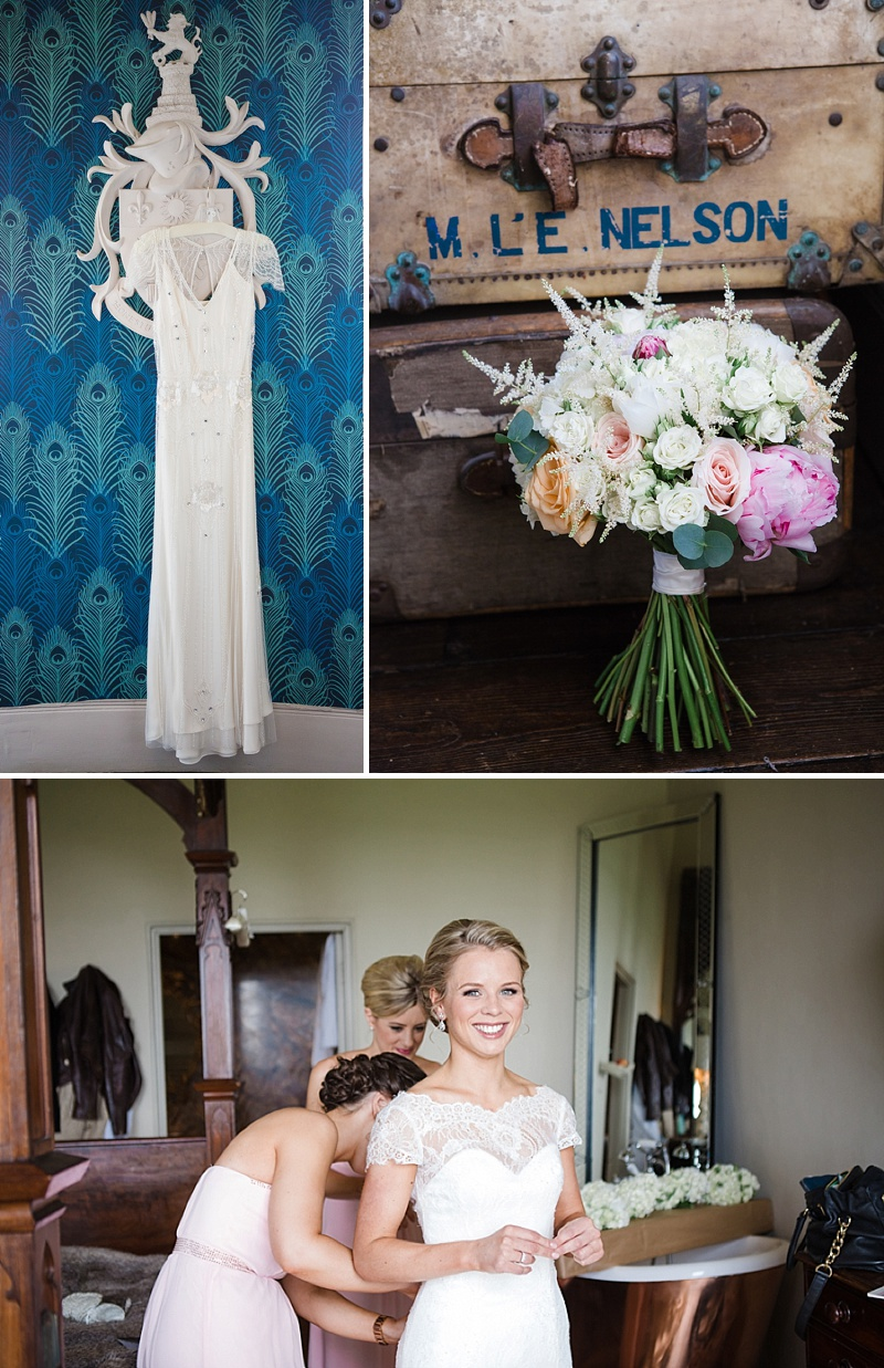 Elegant Wedding At Aynhoe Park With A Pastel Colour Scheme And Bride In A Lace Cap Sleeved Augusta Jones Dress For The Ceremony And A Sequinned Jenny Packham Gown For The Reception And Bridesmaids In Pink Dresses From Ted Baker 2