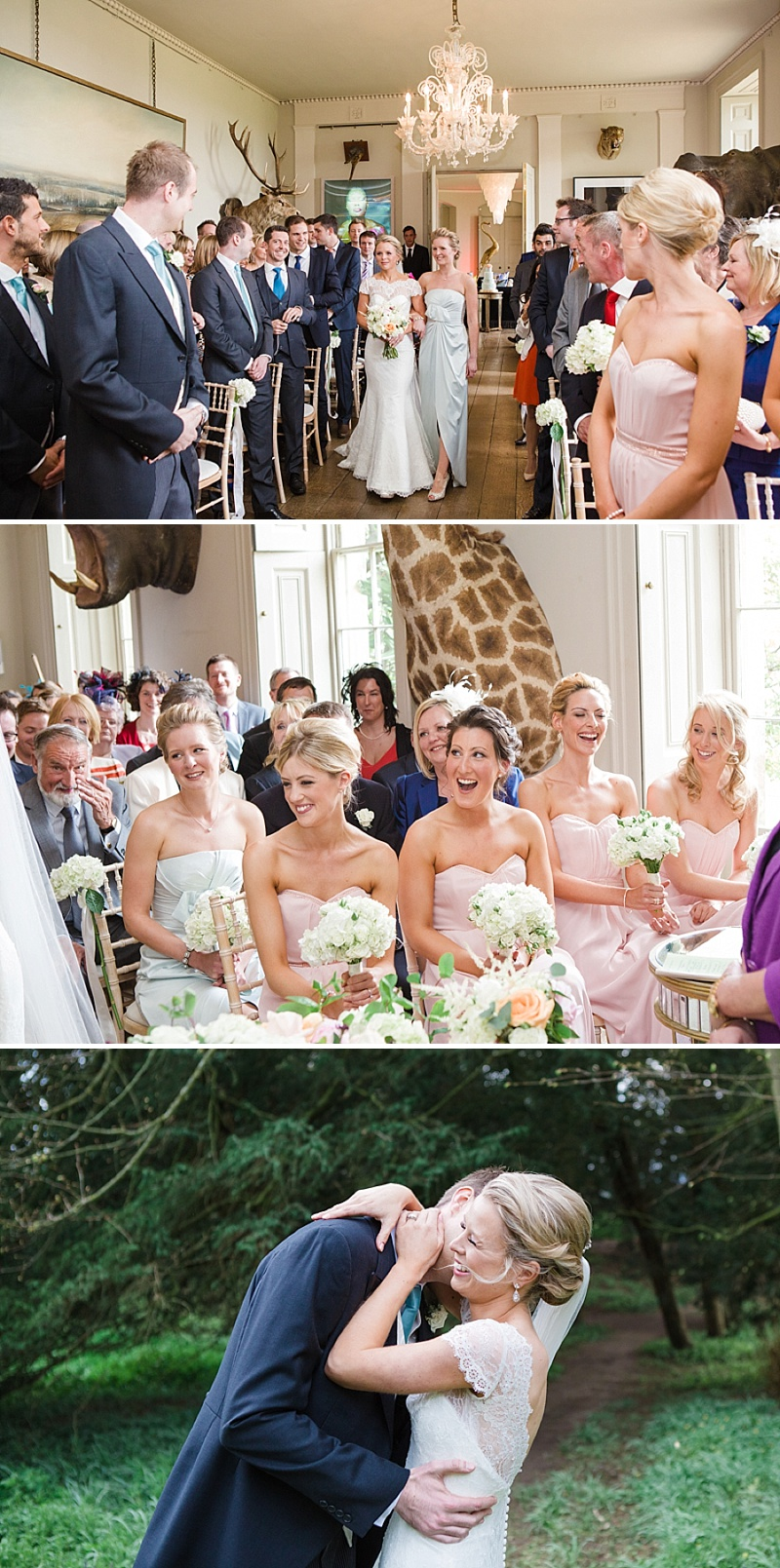 Elegant Wedding At Aynhoe Park With A Pastel Colour Scheme And Bride In A Lace Cap Sleeved Augusta Jones Dress For The Ceremony And A Sequinned Jenny Packham Gown For The Reception And Bridesmaids In Pink Dresses From Ted Baker 4