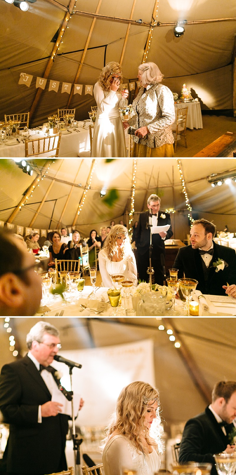 A A modern black tie winter wedding at Fetcham Park in Surrey with a bride in Emma Hunt and bridesmaids in Twobirds_0291