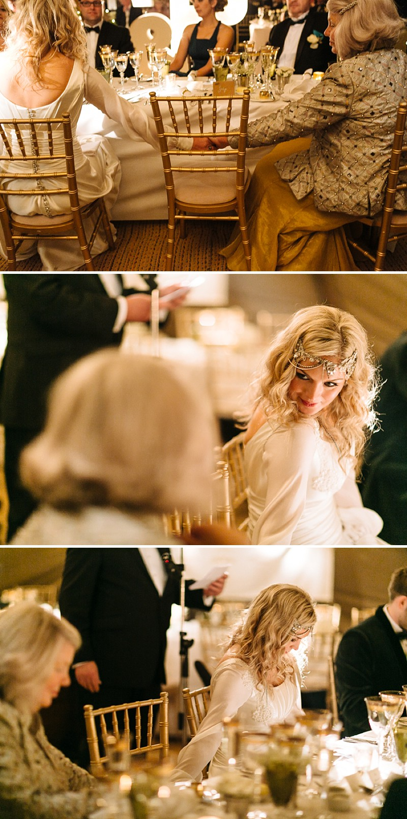 A A modern black tie winter wedding at Fetcham Park in Surrey with a bride in Emma Hunt and bridesmaids in Twobirds_0292