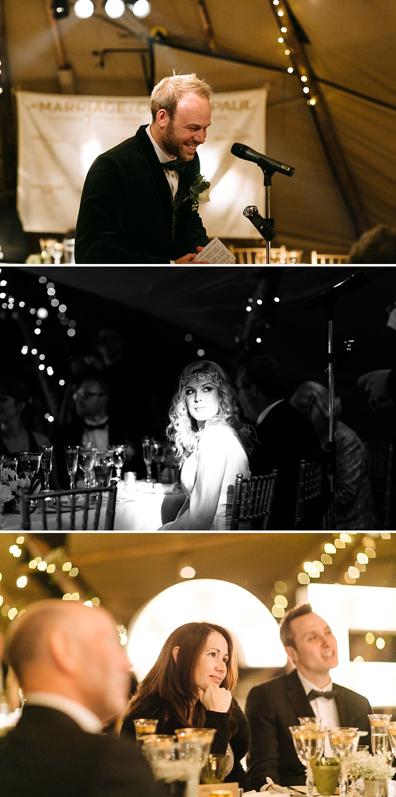 A A modern black tie winter wedding at Fetcham Park in Surrey with a bride in Emma Hunt and bridesmaids in Twobirds_0293