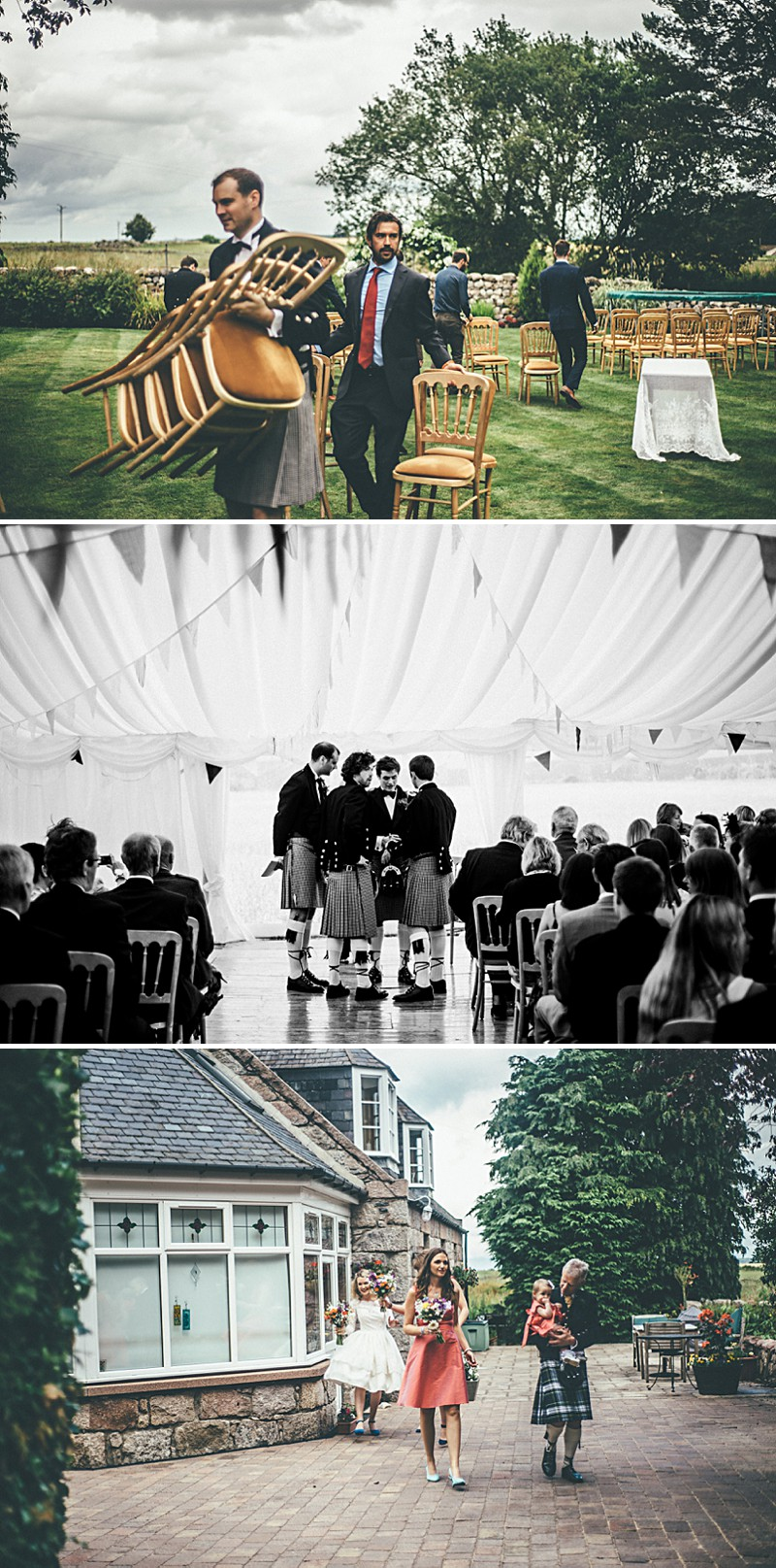 A Scottish DIY Wedding at home with groomsmen in tartan, multicoloured colour scheme and photography by Tub Of Jelly_0005