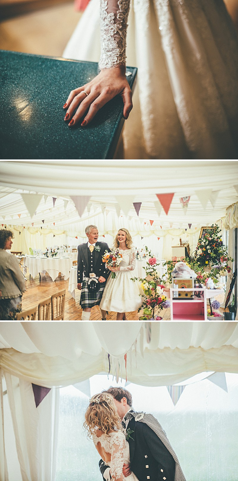 A Scottish DIY Wedding at home with groomsmen in tartan, multicoloured colour scheme and photography by Tub Of Jelly_0006