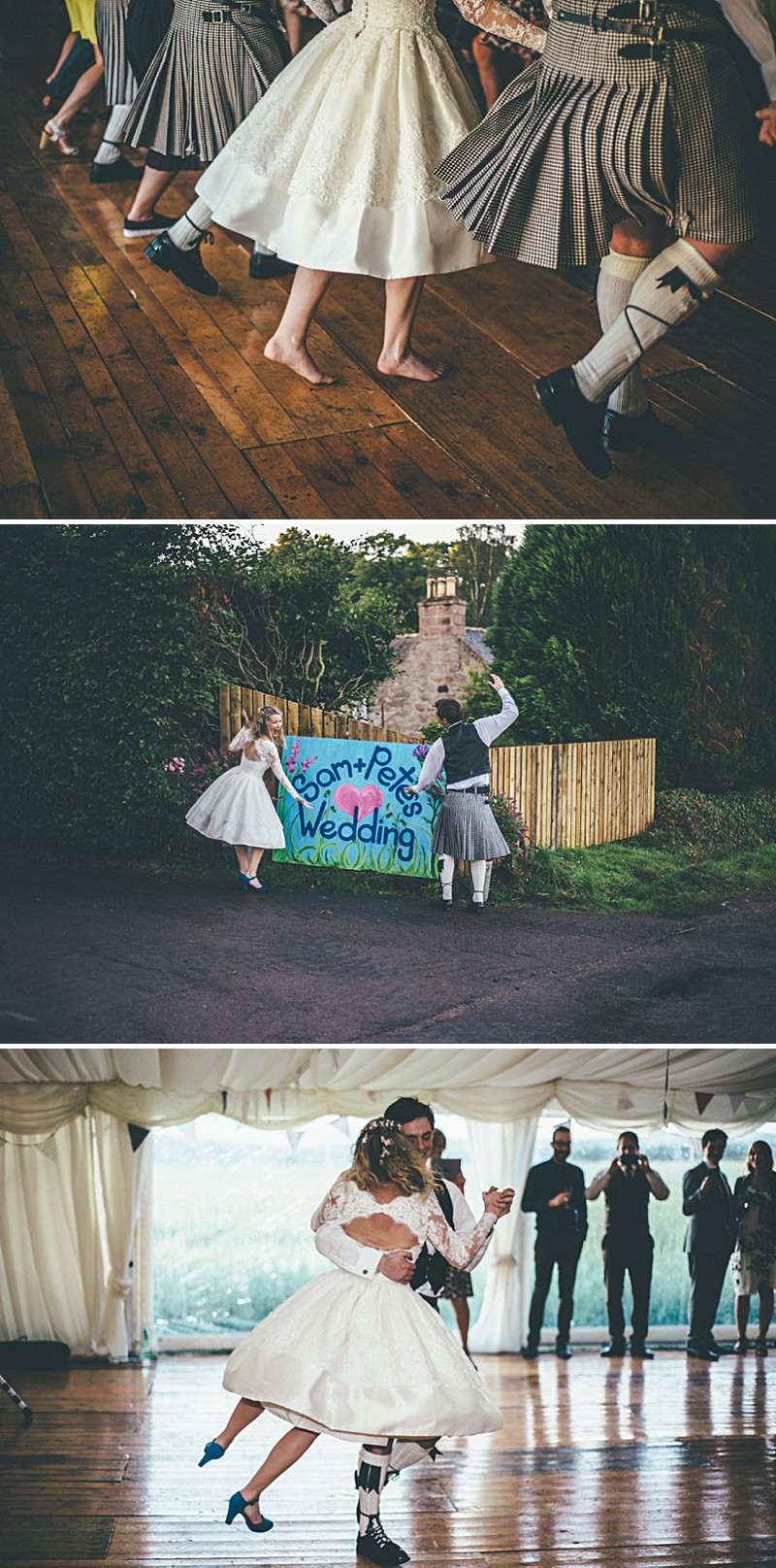 A Scottish DIY Wedding at home with groomsmen in tartan, multicoloured colour scheme and photography by Tub Of Jelly_0013