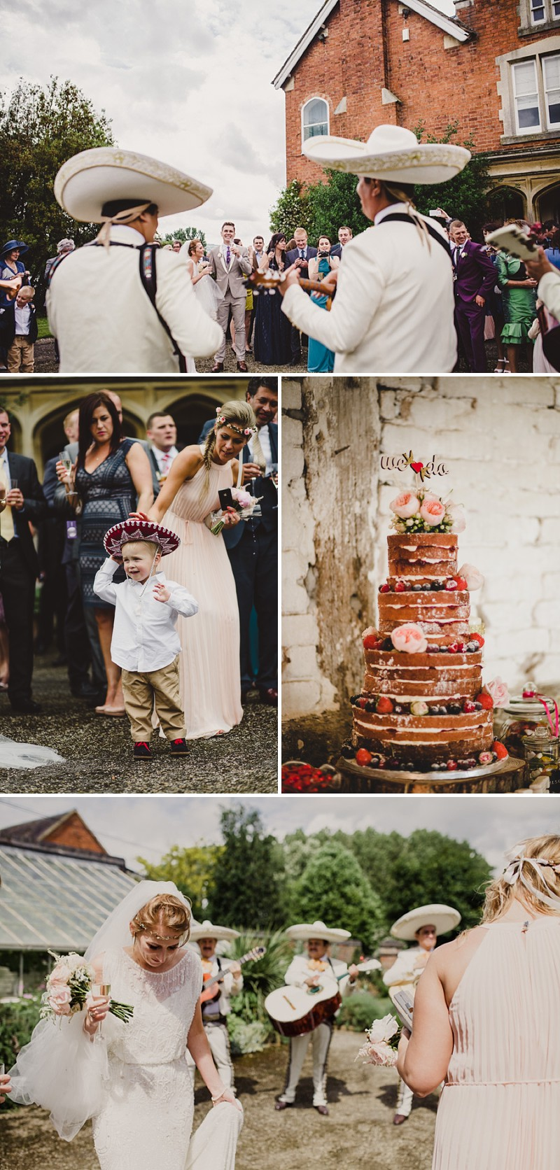 A gold coral peach and pink colour scheme for a wedding at The Old Rectory with a bride in a Jenny Packham Esme dress_0274