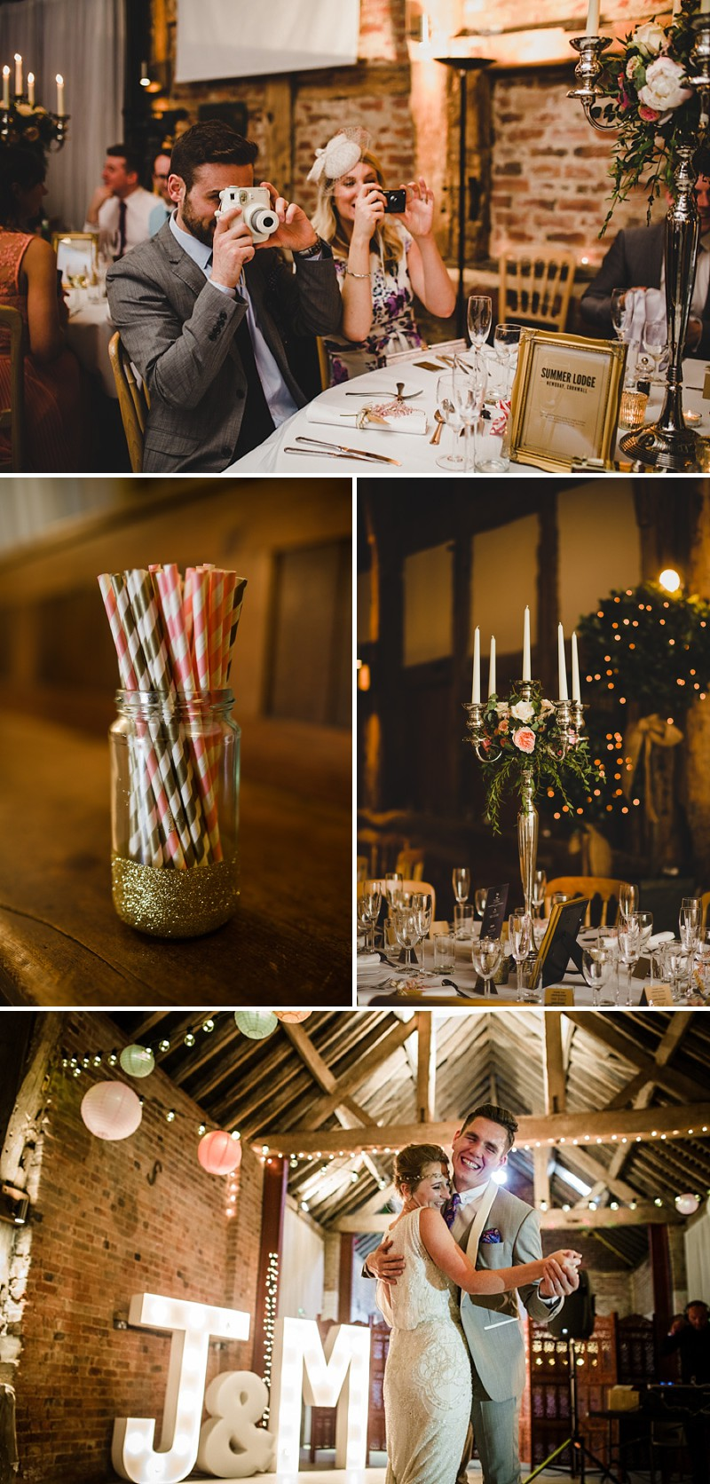 A gold coral peach and pink colour scheme for a wedding at The Old Rectory with a bride in a Jenny Packham Esme dress_0279
