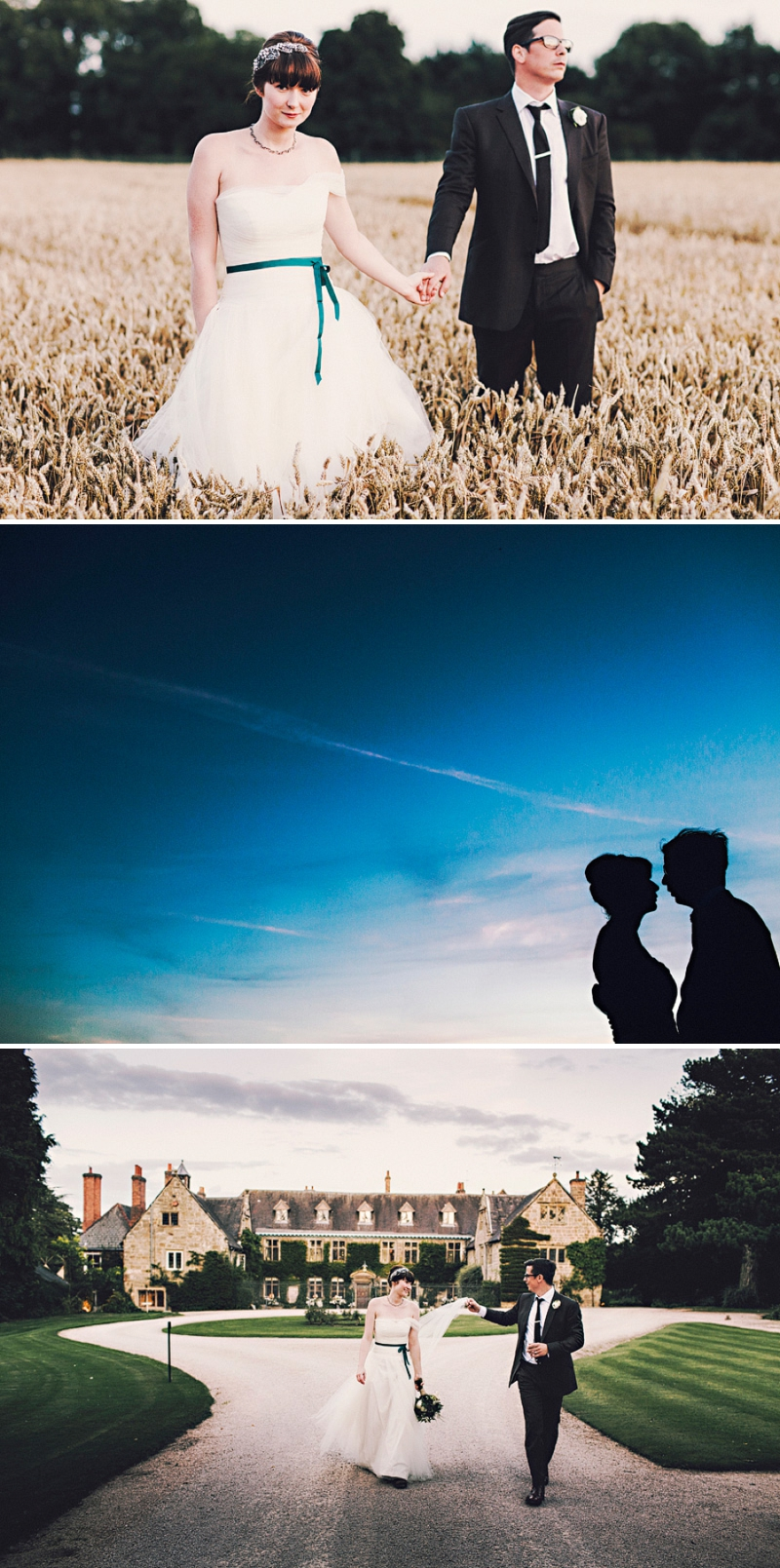 An alternative wedding with bespoke wedding dress and home made blue bridesmaids gowns. outdoor venue with rustic garden games and reception teepee. Photography by Steve Gerrard_0013