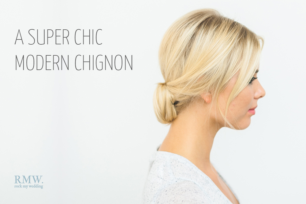 Hair Tutorial Showing You How To Create A Super Chic Modern Chignon ...