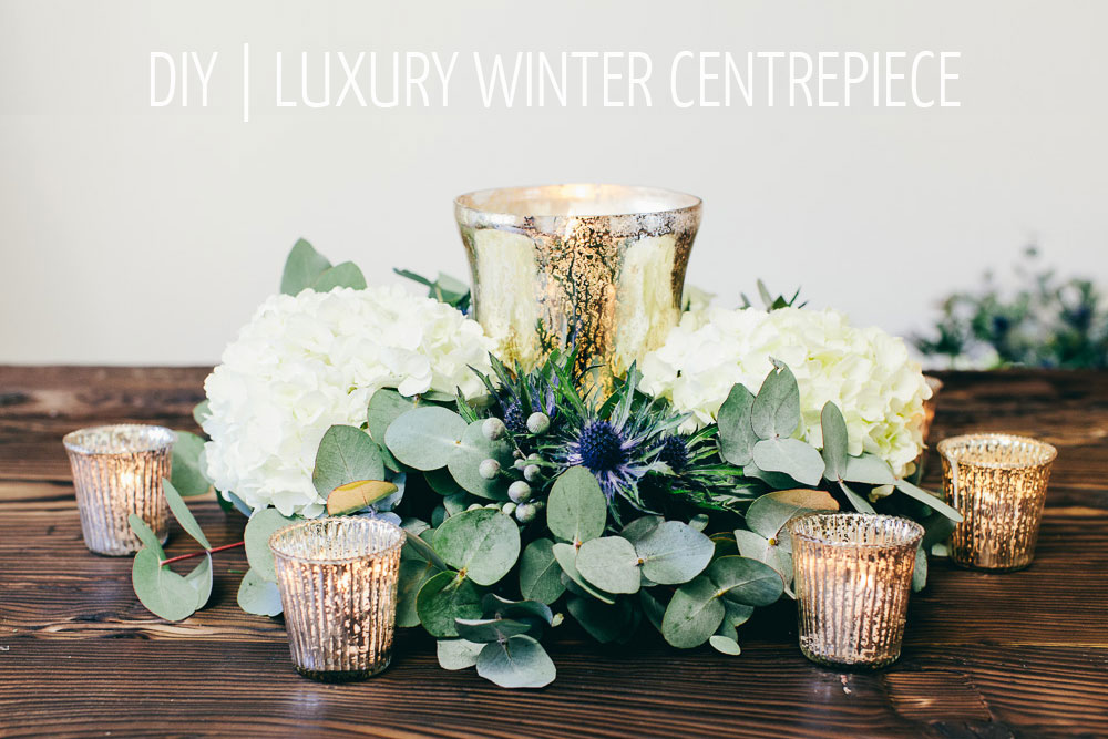 A floral diy tutorial showing you how to create a luxury winter a floral diy tutorial showing you how to create a luxury winter table centrepiece junglespirit Images