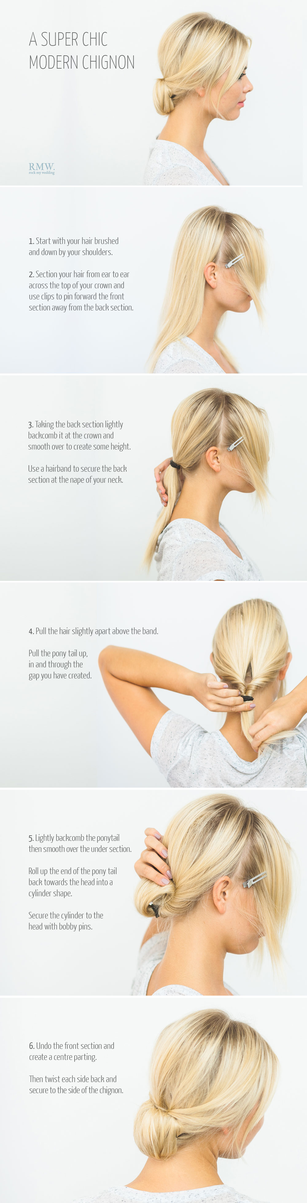 DIY Chignon hair style how to