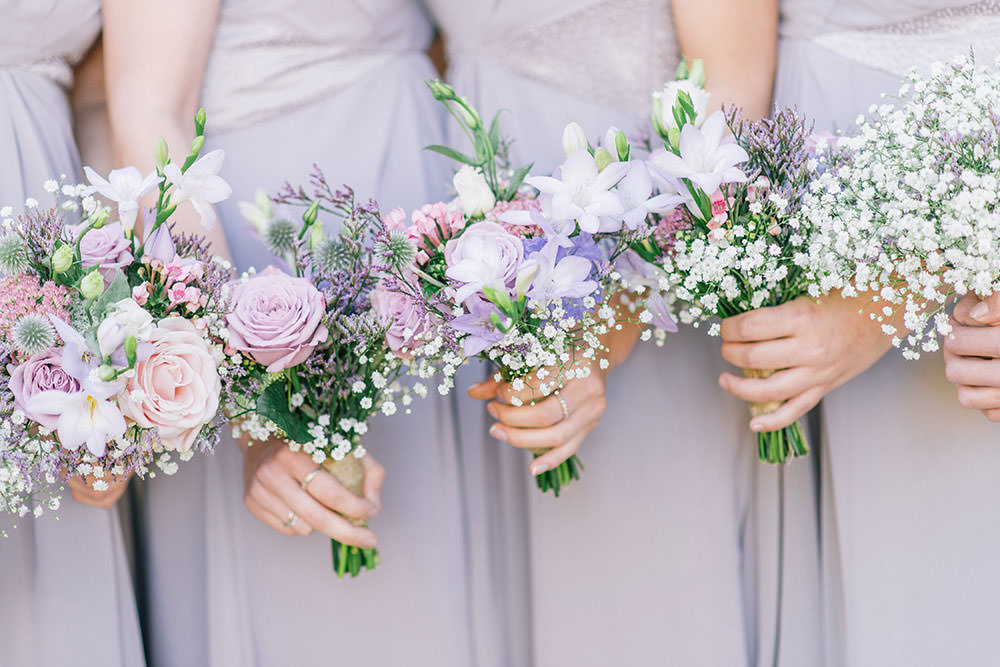 Rustic marquee wedding in yorkshire with a lavender and dove grey image by a junglespirit Images