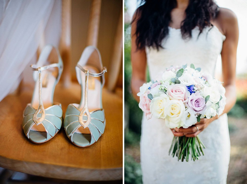 Rachel Simpson Mint Wedding Shoes And Pastel Rose Rustic Bouquet