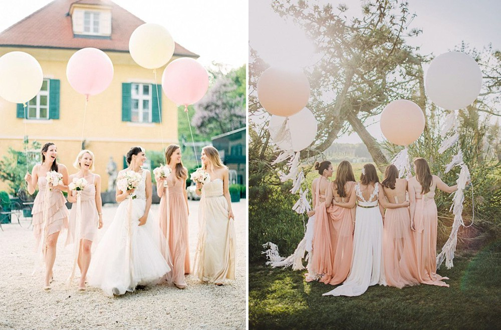How to create a peach and coral colour themed wedding with your how to create a peach and coral colour themed wedding with peach bridesmaid dresses junglespirit Images