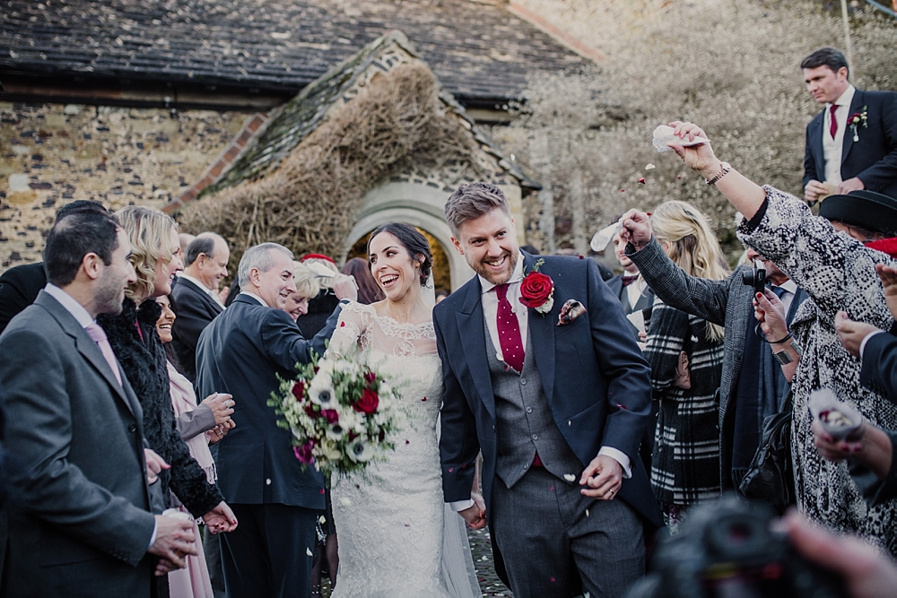 Winter Wedding in a Tipi with Lace Fishtail Gown, Jenny Packham ...