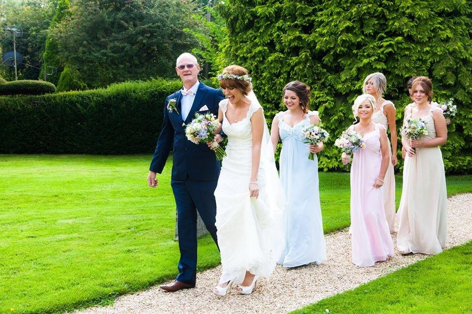 Wendy Makin Lace Wedding Dress & flower crown for a rustic wedding ...
