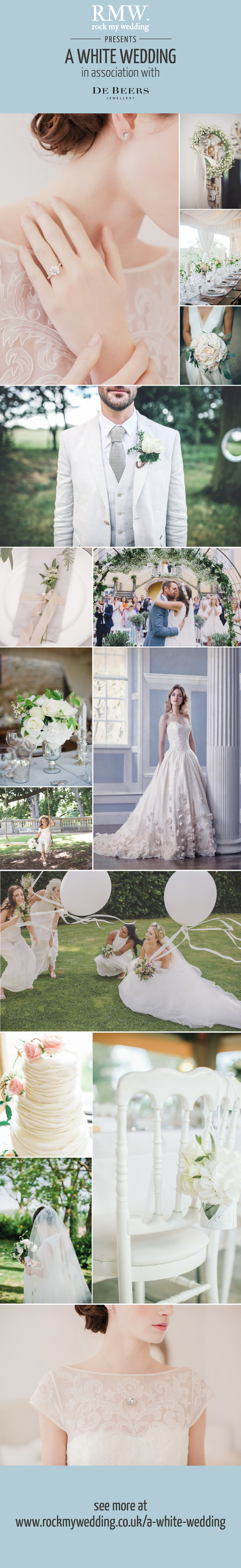 classic white colour scheme inspiration for your wedding day