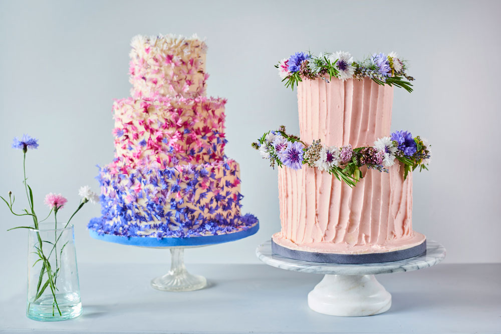 Decorating Cakes With Edible Flowers Petals