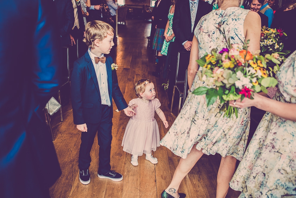 Lace Justin Alexander Wedding Dress For A Quirky Pub Reception In The Lake District Full Of