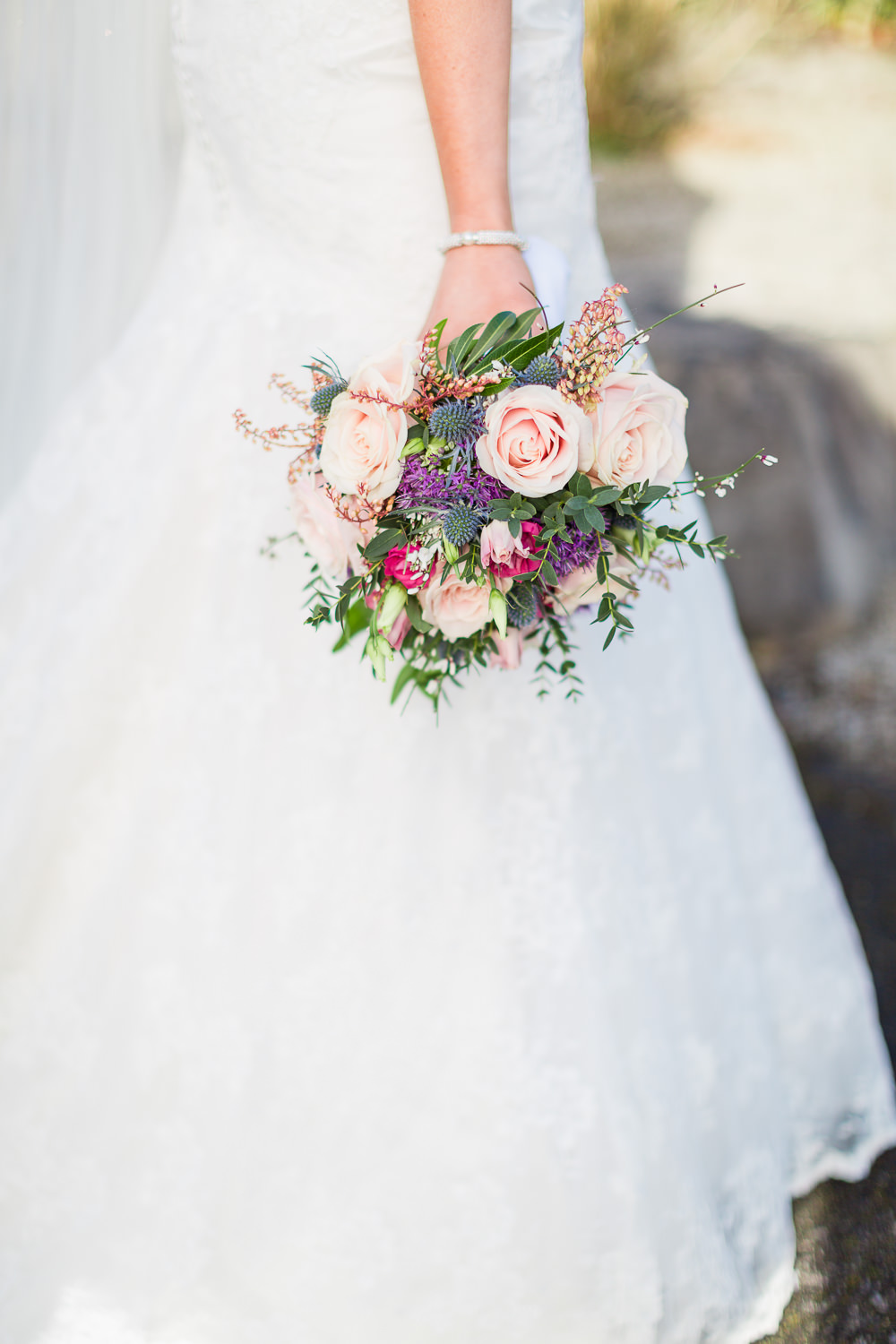 A lace wedding dress for a winter Irish wedding at Slieve Russell ...