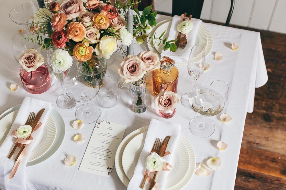 Romantic Botanical Wedding Decor With Waterford Rock My Wedding