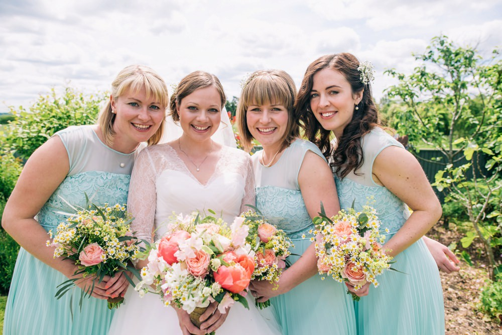Rustic green bridesmaid dresses