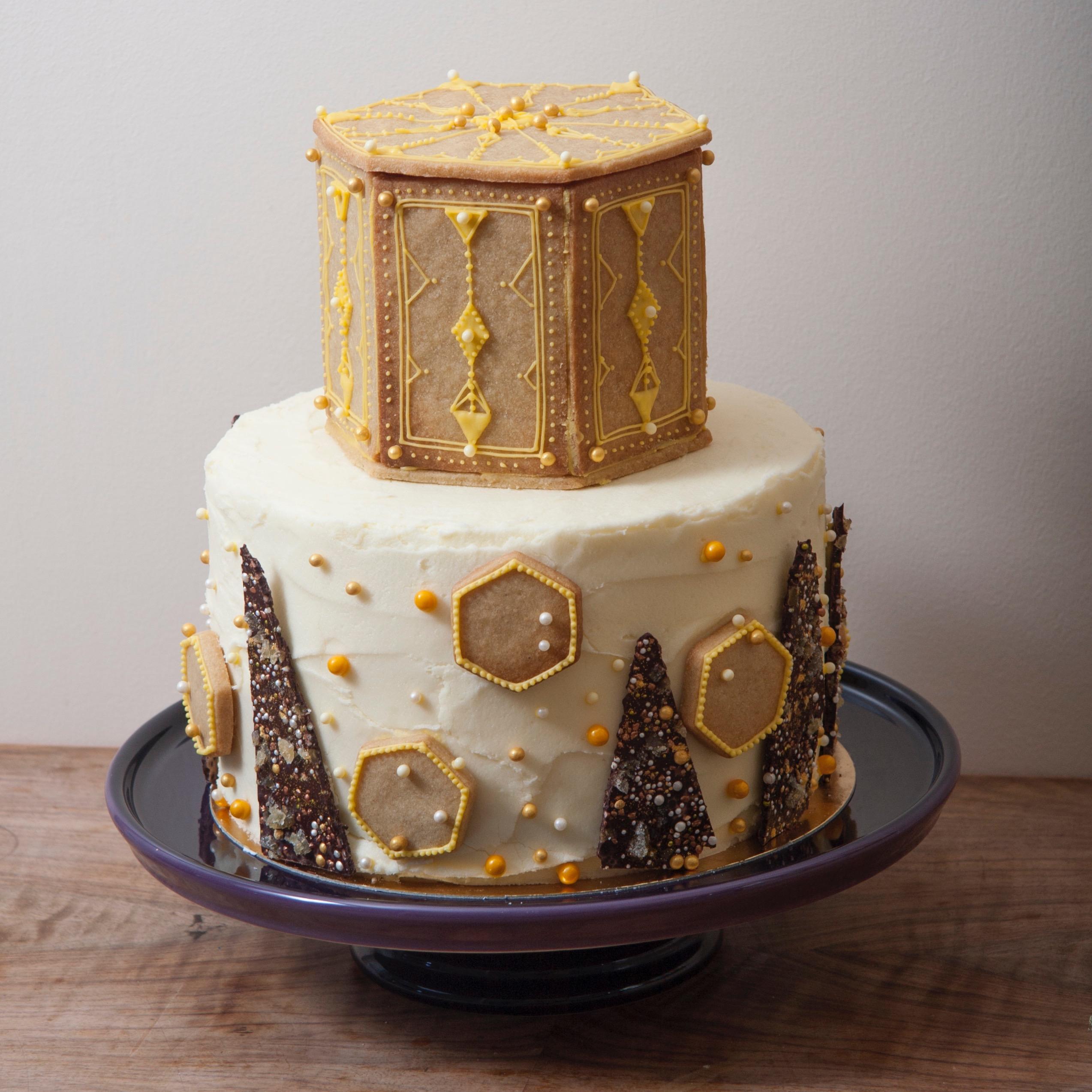 ginger tower cake