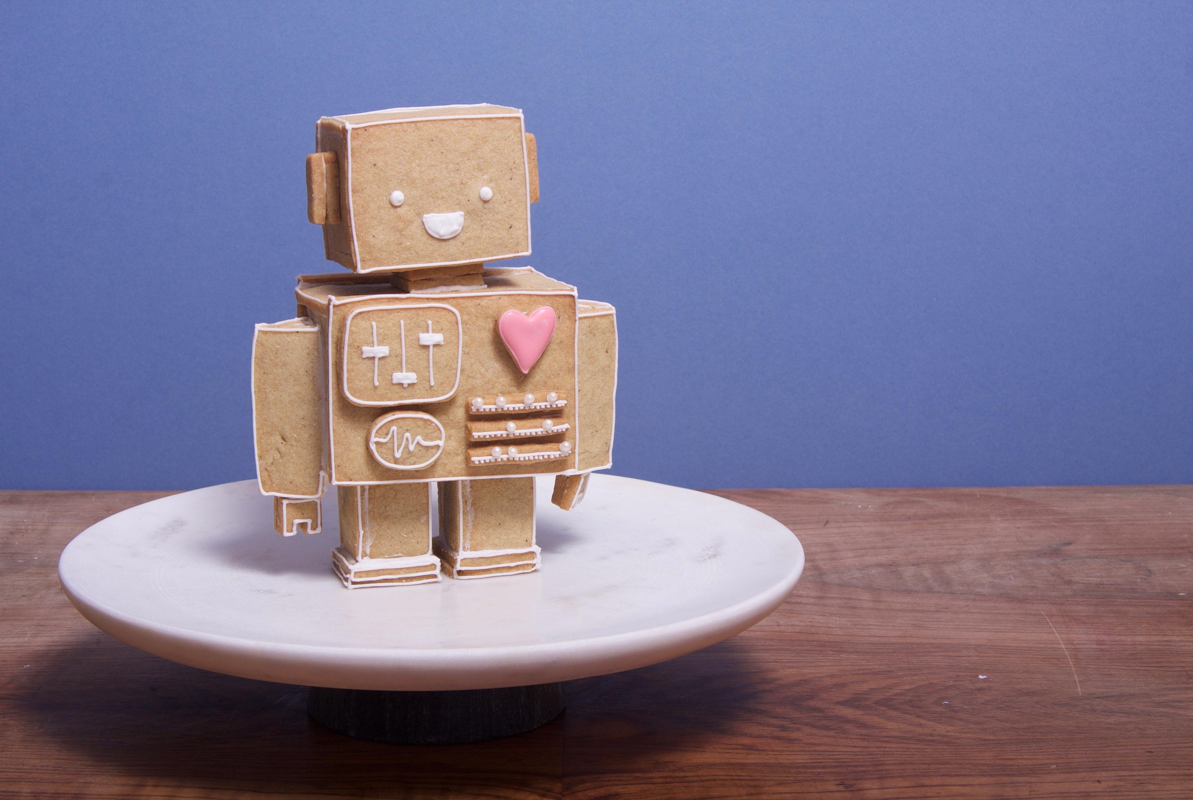 gingerbread love robot